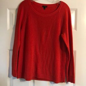 Classic wide scoop neck ribbed sweater